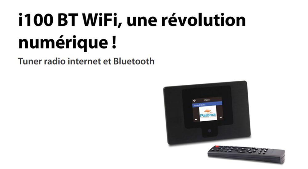 Tuner radio internet Wi-Fi™ avec module Bluetooth - SCANSONIC I100BT Wi-Fi™