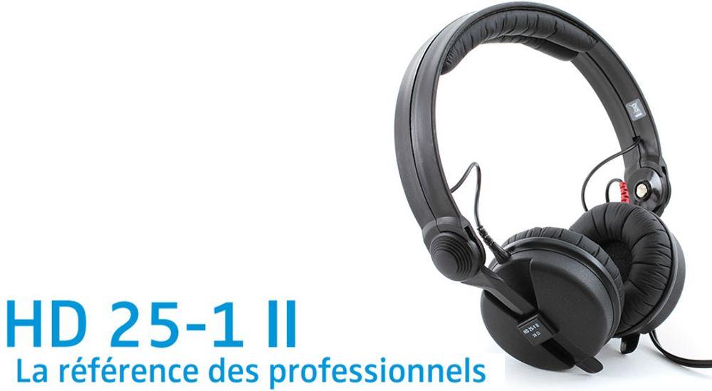 Casque audio supra-auriculaire fermé professionnel - SENNHEISER HD25-1-II BASIC Edition