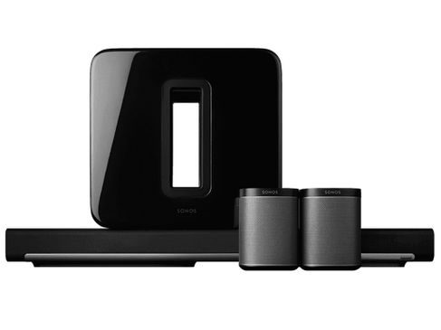 SONOS PLAYBAR + SUB + PLAY:1 Noir (x2)