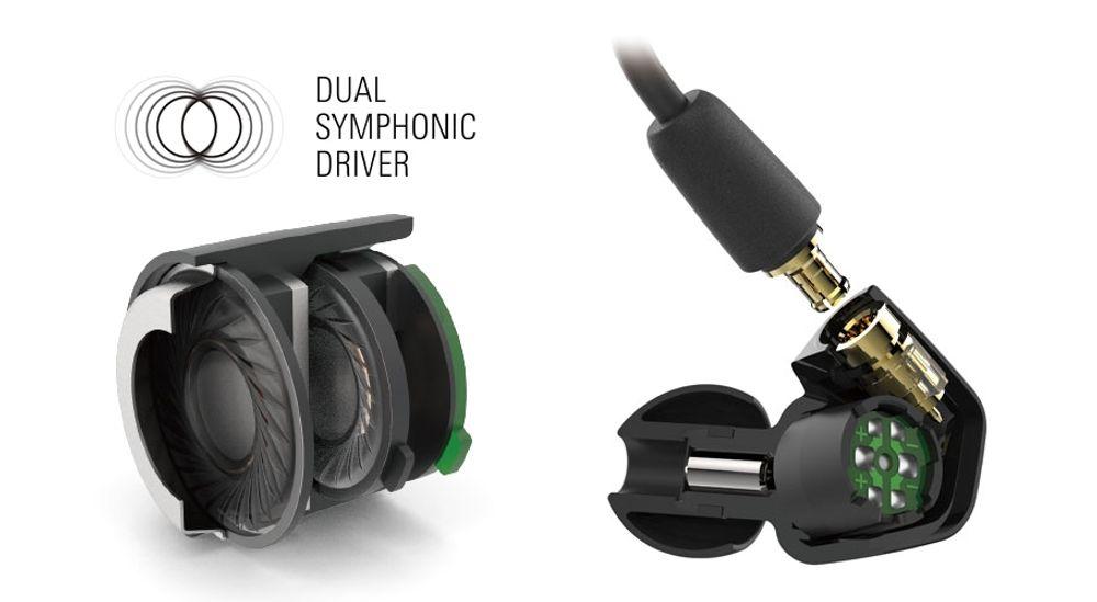 Casque intra-aural Live Sound avec télécommande et fonction mains libres - AUDIO TECHNICA ATH-LS50iS