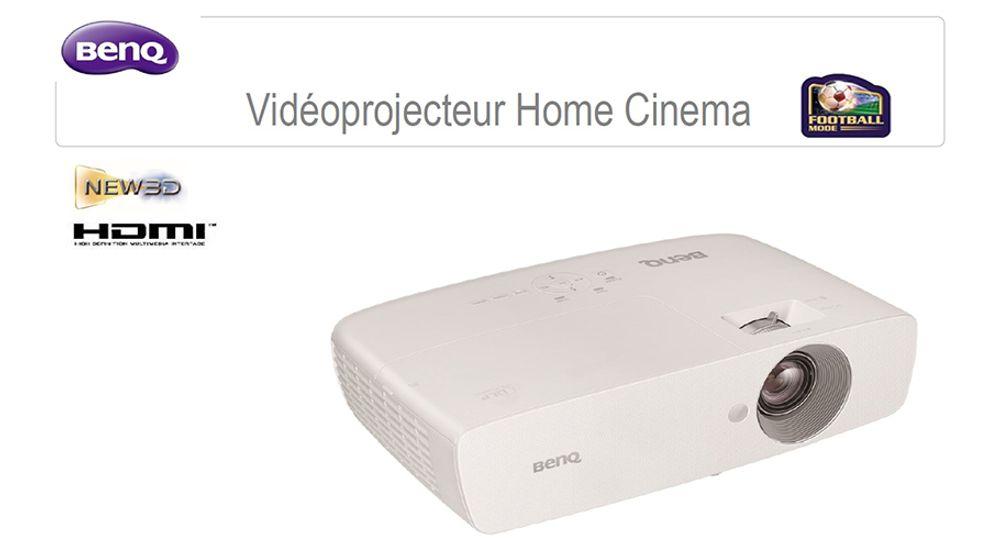 Vidéoprojecteur avec matrice DLP Texas Instruments Full HD 1080p et 3D Ready - BENQ W1090