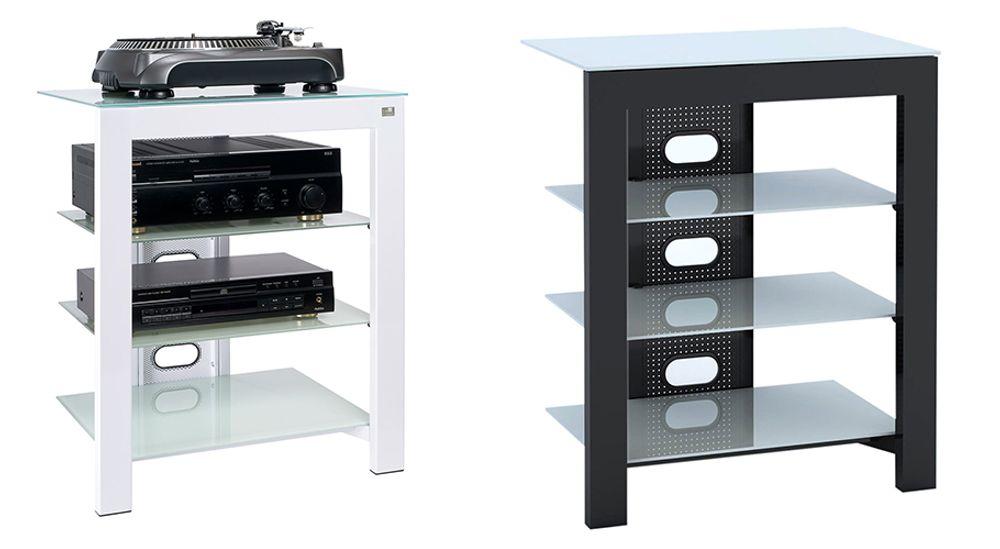 Meuble Hi-Fi à 4 étagères - DE CONTI ARCA XL Artic