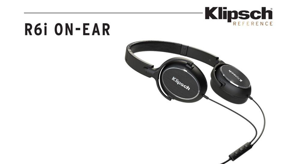 Casque supra-auriculaire avec drivers dynamiques, télécommande 3 boutons, « made for iPod, iPhone & iPod» - KLIPSCH R6i On Ear Noir