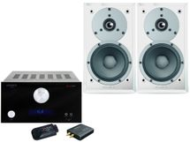 ADVANCE AX1 CONNECT Noir + DYNAUDIO EMIT M10 Blanc Satin