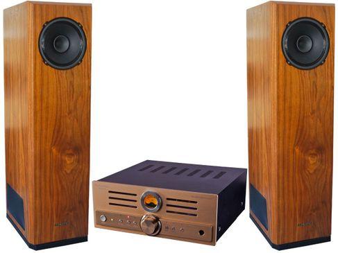 PIER AUDIO MS-680SE Gold + SUPRAVOX BAHIA Walnut