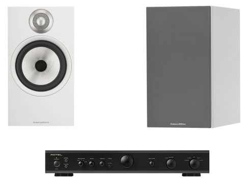 ROTEL A10 Noir + BOWERS & WILKINS 606 Blanc