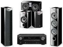 DENON AVR-X1600H Noir + FOCAL Pack CHORUS 726 V High Gloss