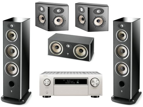 DENON AVC-X6500H Silver + FOCAL Pack 5.0 Aria 948 Noir