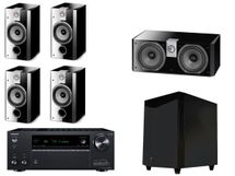 ONKYO TX-NR696 Noir + FOCAL Pack 5.1 CHORUS 706 V + CC700 + SW700 Black High Gloss