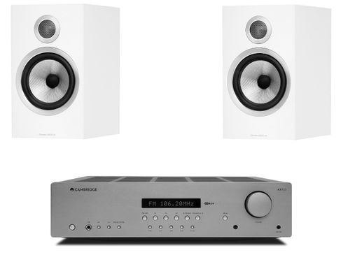 CAMBRIDGE AXR85 + B&W 706 S2 Satin White
