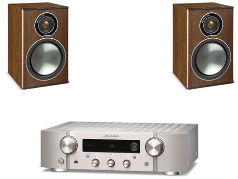 Marantz PM7000N Silver Gold + Monitor Audio Bronze 1 Noyer