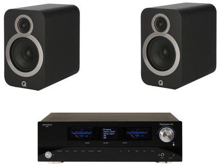 Advance Paris PlayStream A5 + Q Acoustics 3020i Noir