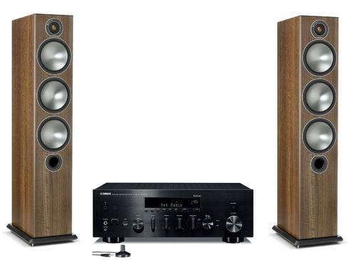 Yamaha R-N803D Noir + Monitor Audio Bronze 6 Noyer