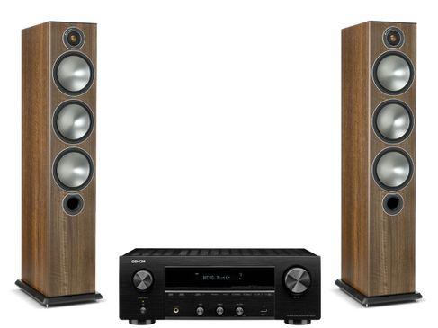 Denon DRA-800H Noir + Monitor Audio Bronze 6 Noyer
