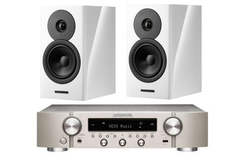 Marantz NR1200 Silver Gold + Dynaudio EVOKE 10 White High Gloss