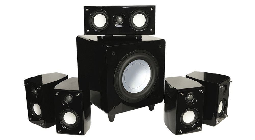 Pack d'enceintes 5.1 avec subwoofer de 110 Watts -  ADVANCE Acoustic  HTS-1000 Elysée