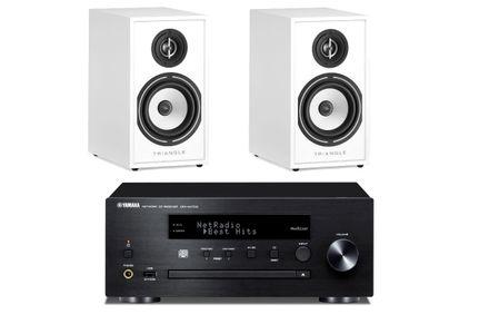 YAMAHA MusicCast CRX-N470D Noir  + TRIANGLE BOREA 02 Blanc