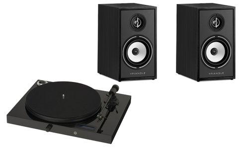 PROJECT JUKE BOX E Piano Black (avec OM5)  + TRIANGLE Borea BR 02 Black