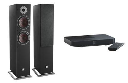 DALI OBERON 7C Noir x 2 + SOUND HUB COMPACT