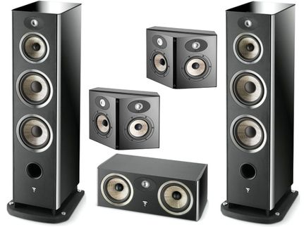 FOCAL Pack 5.0 ARIA 948 + CC900 + SR900 Black High Gloss