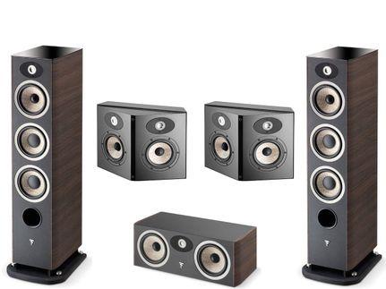 FOCAL Pack 5.0 ARIA 926 + CC900 + SR900 Noyer Foncé