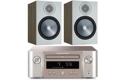 MARANTZ MELODY X (M-CR612) Silver Gold + MONITOR AUDIO BRONZE 100 Urban Grey
