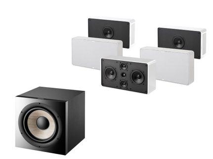 FOCAL Pack 5.1 JAMO D500 Blanc THX Select 2 + FOCAL SUB 1000 F