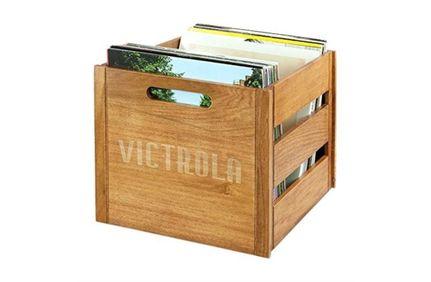 VICTROLA Caisse à vinyle en Bois