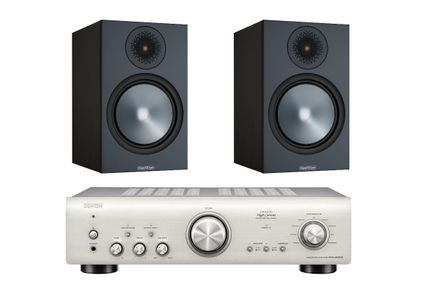 DENON PMA-800NE Silver Premium + MONITOR AUDIO BRONZE 100 Noir